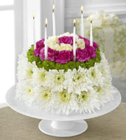 The FTD� Wonderful Wishes� Floral Cake