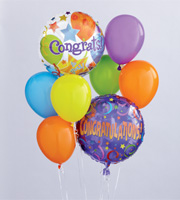 Apple blossom Florist, winter Park, florida 32792 Congratulations Balloon Bouquet