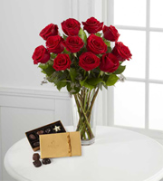 The FTD� Red Rose and Godiva Bouquet