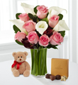 Fabled Beauty with Bear & Godiva� - VASE INCLUDED