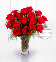 The FTD� Premium 18 Long Stemmed Red Roses Bouquet