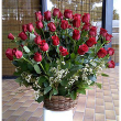 LA104 52-ROSES basket arrangement