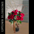 Uptown Blossoms Dozen Roses with Beaded Garland