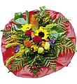 Bouquet of Seasonal Flowers with red roses