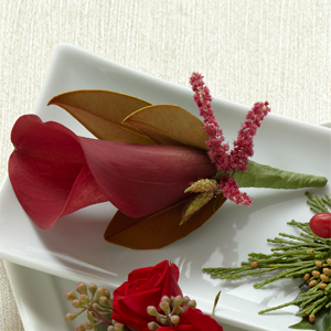 The FTD� Red Calla Boutonniere