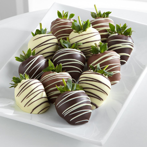Golden Edibles™ Classic Belgian Chocolate Covered Strawberries - Single Dipped