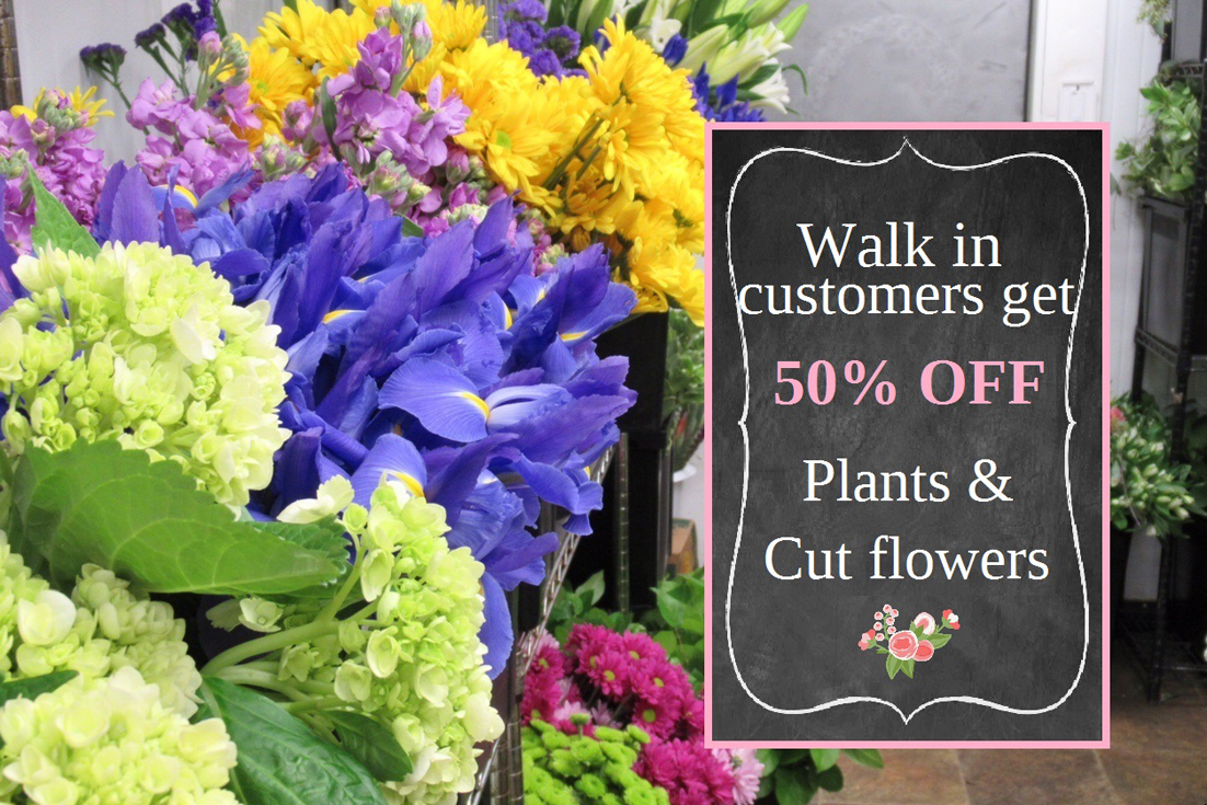 Call To Place Your Flower Order And We Will Add 50 More Flowers